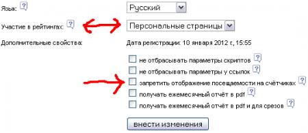 настройка liveinternet